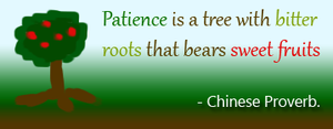Patience bears Sweet Fruits by Leafeo