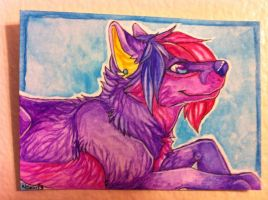 Iron Artist Challenge ACEO 3 by nightspiritwing