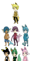 Eeveelution Adopts -CLosed- by Miss-Adoptables