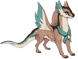 RBloodwolf's Speckled Marsh Finapsid (Fawn) by unicornkettle