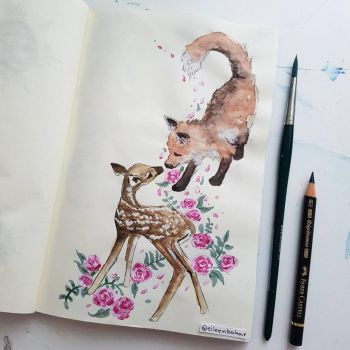 The Fox and The Fawn  by ShyyBoyy