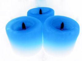 blue candles by hutsonlover