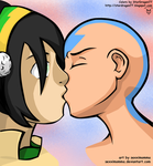 Taang Kiss Colored by StarDragon77