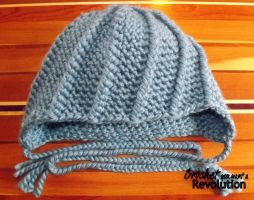 Ribbed Ear-flap Toque by CoopiBella