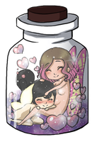 Bottled Fairy Lovers by Mifmemo