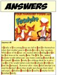 Four Famished Foxes book summary answers by dabbycats