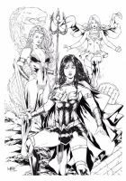 Wonder Woman Mera and Supergirl by Leomatos2014