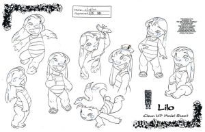 Clean-Up Modelsheet1(Lilo and Stitch) by dagracey