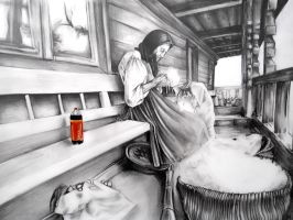 Old woman with Cola by Cayasha