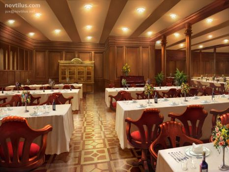 2nd Class Dining Saloon of Titanic by novtilus