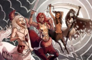 Four Horsewomen of the Apocalypse by Shattered-Earth