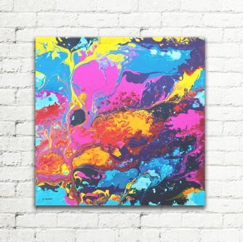 Abstract Canvas Art Painting Living Room Wall Art by hjmart