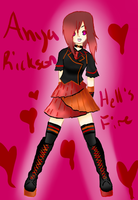 Anya Rickson ..::Hells Fire::.. by AnimeGurl1012