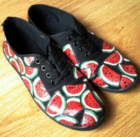 Watermelon shoes by Gohush