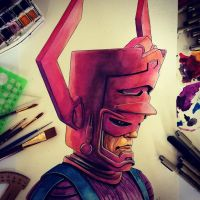 Galactus Watercolor by APetrie74
