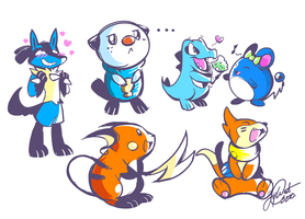 Pokedoodles by super-tuler