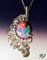 Wire Wrap Polymer Clay Pendant by Create-A-Pendant