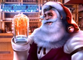 Bartender Santa by Clearmirror-StillH2O