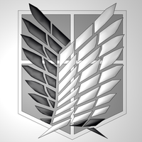 Shingeki no Kyojin: Recon Corps Symbol (Black) by MarcFWL