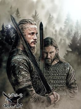 Vikings Ragnar and Rollo by thecasperart