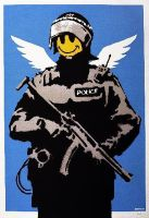Banksy cop by abloggingape