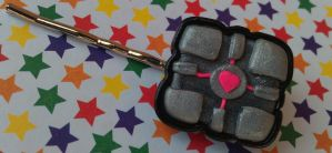 Another Companion Cube Bobby Pin by Gynecology