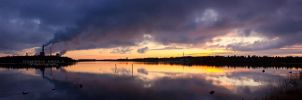 Oulu sunset by DominikaAniola