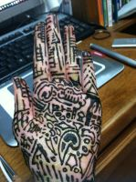 My first Henna Hand by Wintaria