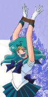 Sailor Neptune Tied and gagged by falsapersona99