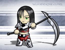 Chibi - Warrior Girl by CGVickers