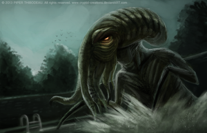 DAY 224. Cthulhu's Pool Hour by Cryptid-Creations