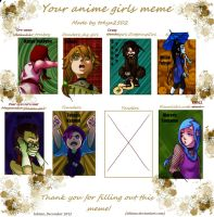 Naruto Ocs - Your anime girls meme by ishime