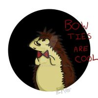 Zach the Hedgehog thinks bow ties are cool by EmajiMewp