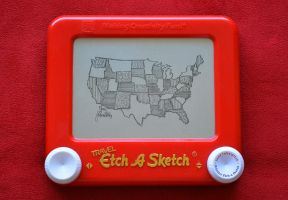 America Etch A Sketch by pikajane