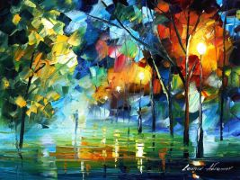 Night mediation by Leonid Afremov by Leonidafremov