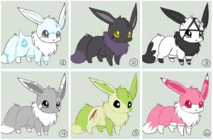 Eevee adopts ~ OPEN ~ 2/6 by sushi0cat