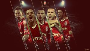 Besiktas JK 2012-2013 Red Theme Wallpaper by eaglelegend