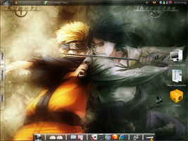 Naruto inspired Desktop by AndyClaro