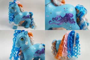 Blue Octopus Pony by lovelauraland