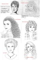 Old Pencil Drawings - 30 years ago by MayFong
