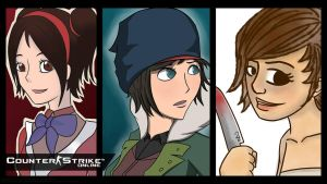 3 Counter Strike Online Girls Wallpaper by IntrovArt