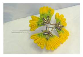 Large Ginkgo Kanzashi by EruwaedhielElleth