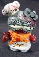 ROT TOT -HelloKitty- Ooak Zomb by Undead-Art