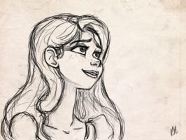 Sketchy Rapunzel by bealor