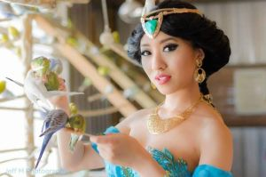 Princess Jasmine in the aviary by StellaChuu