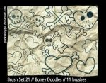 Brush Set 21 - Boney Doodles by punksafetypin