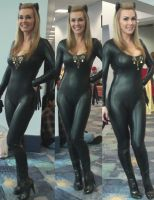 Three views of 1960s TV Catwoman at Wondercon by trivto