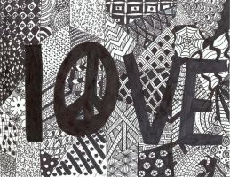 Zentangles-Love by naladraws