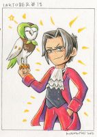 The Prosecutor and the Owl - Inktober #18 by Kosmotiel