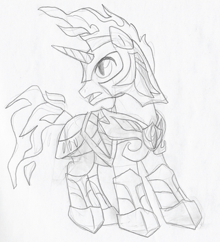 Obsidian Armor by VioletSquiggles